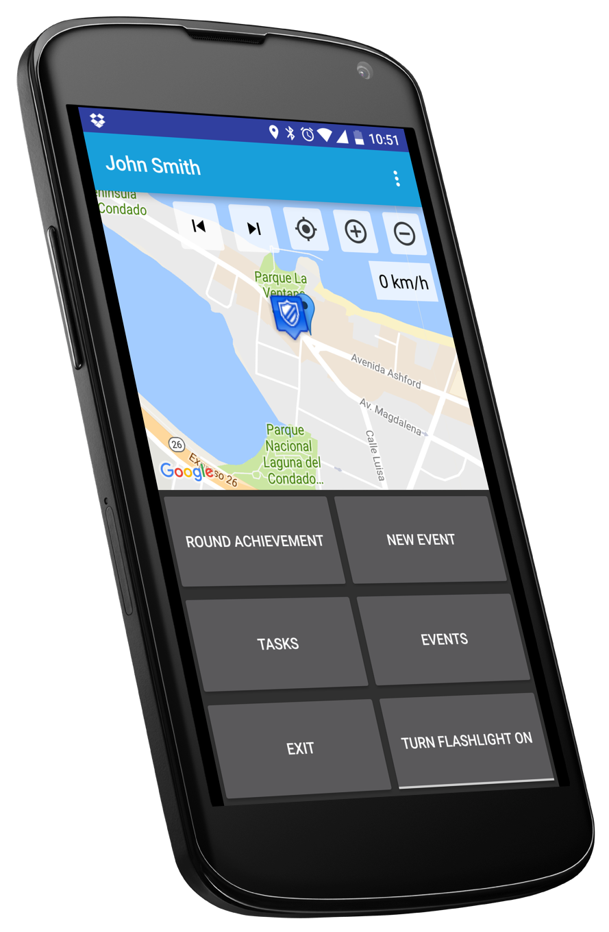Guard Tour System Main Screen Mobile